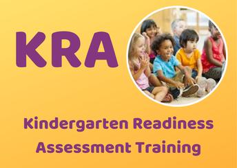[CANCELED] Kindergarten Readiness Assessment Training (KRA Training)