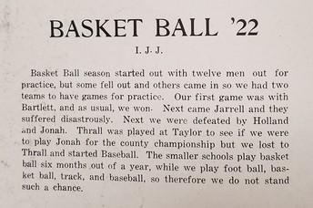 Basektball in 1922