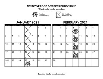 Winter Food Box calendar