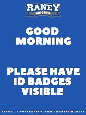 ID Badges required daily at school