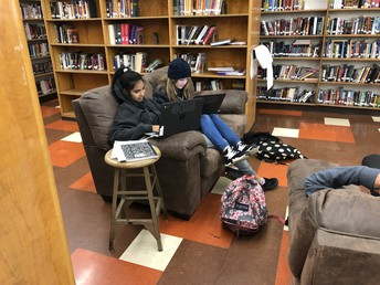 The Humanitas Magnet took over the library this week.