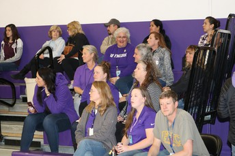 PHS Staff in the Rooters Section!