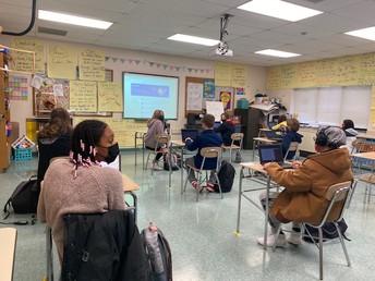 Mrs. Pratti's students getting ready to discuss Utopia vs. Dystopia