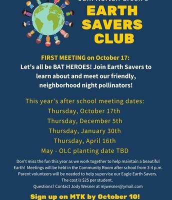 EARTH SAVERS CLUB REGISTRATION