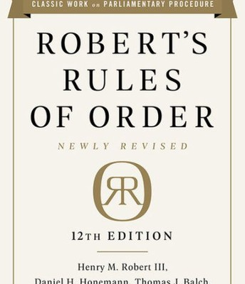 Robert's Rules Newly Revised 12th Edition