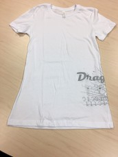 Dragons Side Print Bella T-White