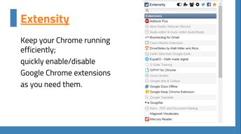 Manage Extensions with Extensity
