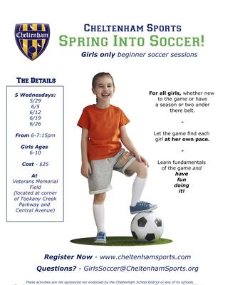 Girls   Beginner Soccer Sessions