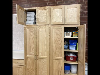 New cabinets in all classrooms