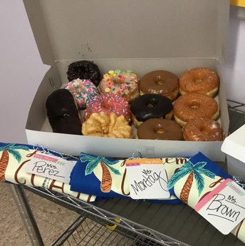 Donuts for Hathaway teachers!