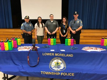 Township Police Officers were present at Back to School Nights