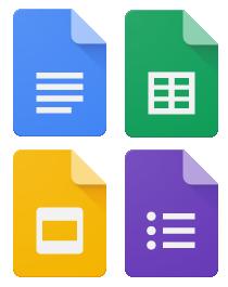 Google Sheets, Google Docs & Google Forms