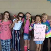 Groovy Kids Supporting Peace, Love, and KINDNESS WEEK