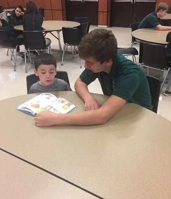 Reading with our Kindergarten Buddies