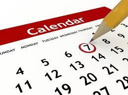 IMPORTANT DATES:  MARK YOUR CALENDAR!