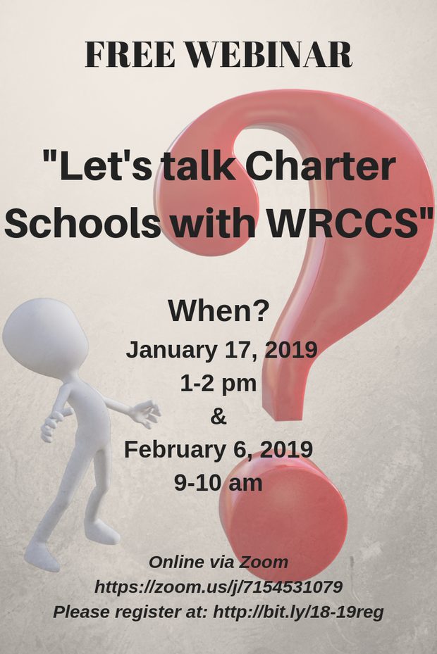 Let's Talk Charter Schools with WRCCS event flyer