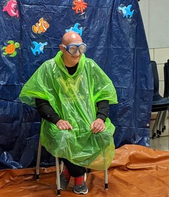 Spry Principal, Mr. Baehr was a sponge throw all-star!