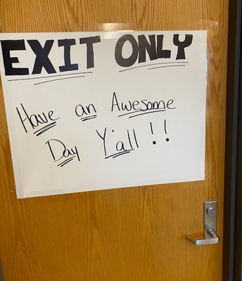 Positive messages are waiting for our students!