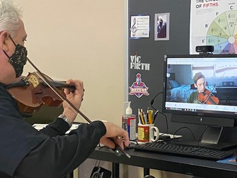Orchestra continues online
