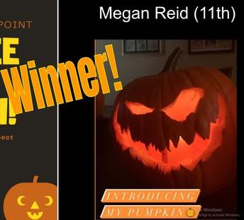 Pumpkin Carving Winner - Megan Reid