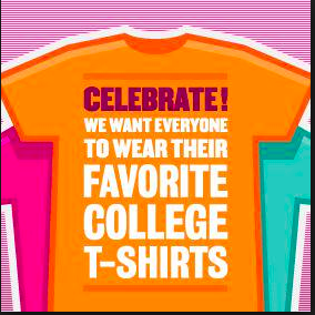 Tuesday, September 4th  College Day!