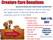 Hurricane Relief Effort- Creature Care