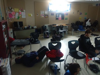 Silent breathing exercises in Music 6!