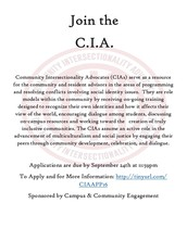 Join the C.I.A