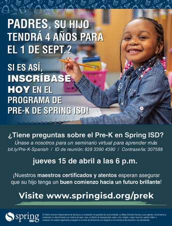 Is Your Student Registered Yet for Pre-K? Give Your Child a Strong Start to a Bright Future!