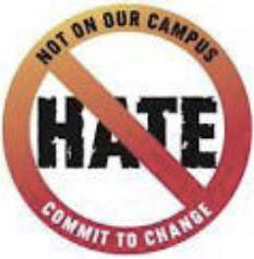 image for no hate - not on our campus campaign