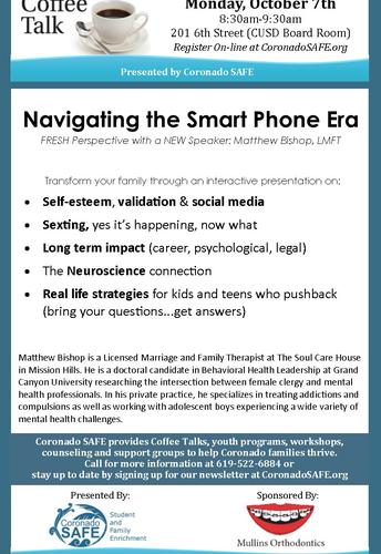 Coronado SAFE Coffee Talk: Navigating the Smart Phone Era