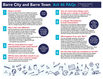 Why Act 46 Makes Sense for Barre City and Barre Town