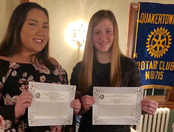 Rotary recognizes its top QCHS students