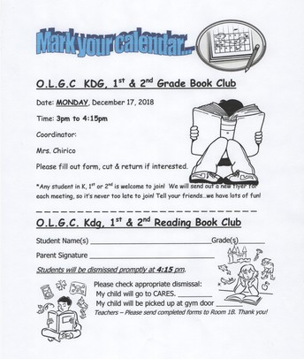 December Book Club with Mrs. Chirico