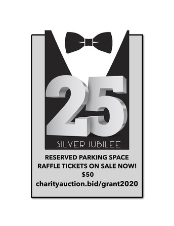 All New: Parking Raffle, 2/21 plus New Online Auction for Birthday Marquis!