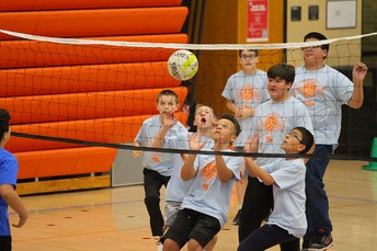 Sixth-grade volleyball tournament photo