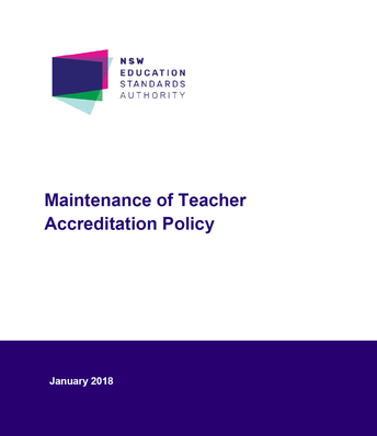 NESA: Maintenance of Teacher Accreditation Policy