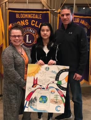 Eva Bach wins Lion's Club International Peace Poster Contest