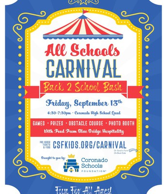 Come to the Carnival on Sept. 13th.