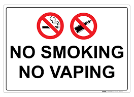 NO SMOKING OR VAPING ON SCHOOL GROUNDS