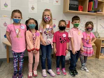 Just a few of Mrs. Weinkauf's Kindergarten class!