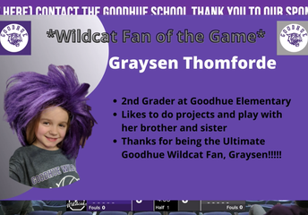 Graysen chosen as fan of the game against Triton!