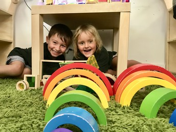 Making Rainbows in Kindy