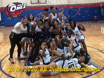 8b Lady Owls Basketball Disttrict Champs
