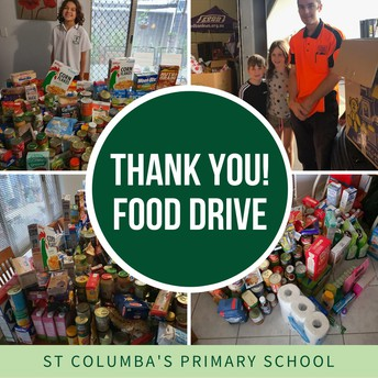 P&F food drive - thank you!