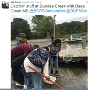 Deep Creek MS Catching Critters at Dundee Creek