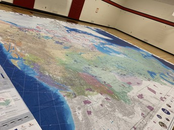 We learning more about Indigenous People on our Giant Map