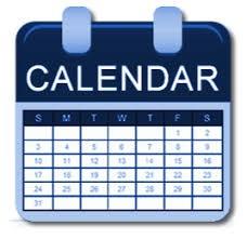 Dates to remember- Calendar correction!