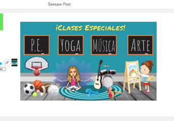 Maestra Sara's special class activities