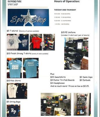 RPMS Spirit Shop